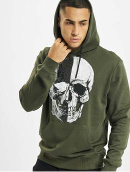 Aarhon Bluzy z kapturem Skull  khaki