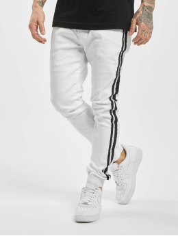 Aarhon joggingbroek Denim Look wit
