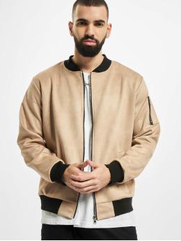 Aarhon Kurtki przejściowe Fake Velours Leather bezowy