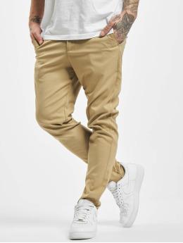 Aarhon Pantalon chino Slim brun