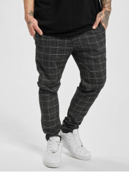 Aarhon Pantalon chino Checked noir