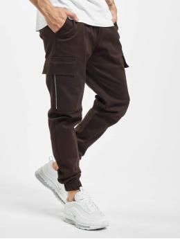 Aarhon Pantalone Cargo Zip  marrone