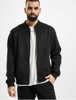 Aarhon Prechodné vetrovky Fake Velours Leather èierna