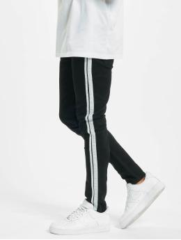 Aarhon Skinny Jeans Side Stripes czarny