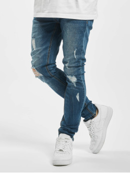 Aarhon Skinny Jeans Destroyed modrý