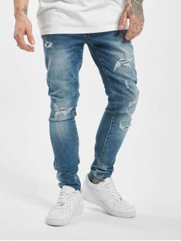 Aarhon Skinny Jeans Ripped  niebieski