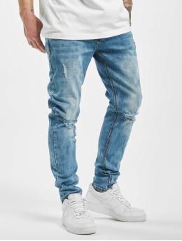 Aarhon Slim Fit Jeans Destroyed modrý