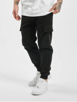 Aarhon Spodnie Chino/Cargo Zip  czarny