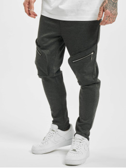 Aarhon Spodnie Chino/Cargo Big Pocket szary