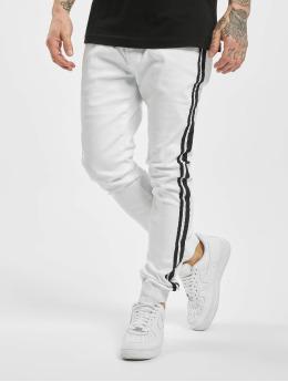 Aarhon Spodnie do joggingu Denim Look bialy