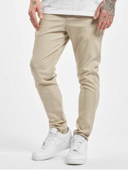 Aarhon Spodnie wizytowe Slim bezowy