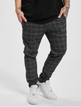 Aarhon Spodnie wizytowe Checked czarny