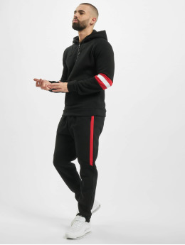 Aarhon Trainingspak Stripes  zwart