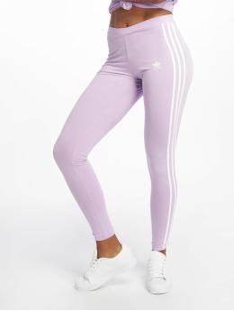 adidas originals Леггинсы 3 Stripes пурпурный