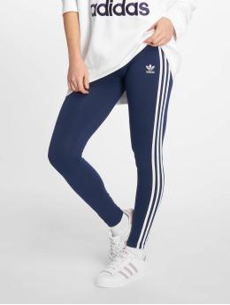 adidas originals Леггинсы 3 Stripe синий