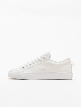 adidas Originals Baskets Nizza Trefoil blanc