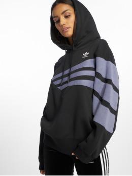 adidas originals Bluzy z kapturem diagonal czarny