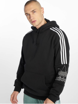 adidas originals Bluzy z kapturem Outline czarny