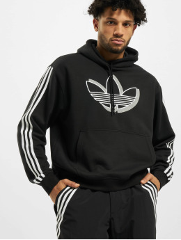 adidas Originals Bluzy z kapturem Shadow Trefoil  czarny