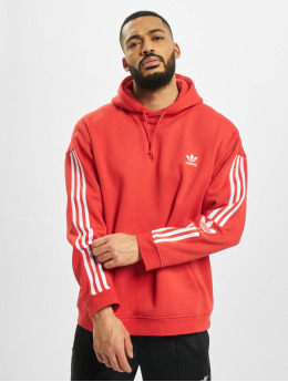 adidas Originals Bluzy z kapturem Tech  czerwony