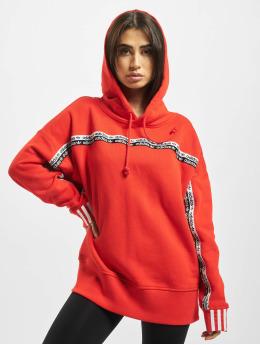 adidas Originals Bluzy z kapturem Logo  czerwony