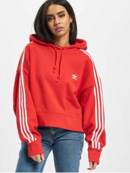 adidas Originals Bluzy z kapturem Short czerwony
