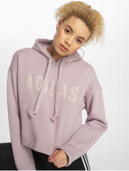 adidas Originals Bluzy z kapturem Cropped fioletowy