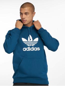 adidas originals Bluzy z kapturem Trefoil niebieski