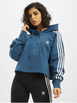 adidas Originals Bluzy z kapturem Cropped  niebieski