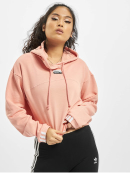 adidas Originals Bluzy z kapturem Cropped  pink