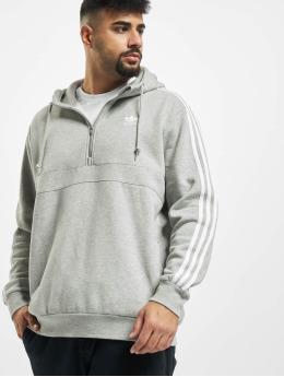 adidas Originals Bluzy z kapturem 3-Stripes Half Zip szary