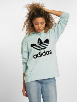 adidas Originals Bluzy z kapturem Os  turkusowy