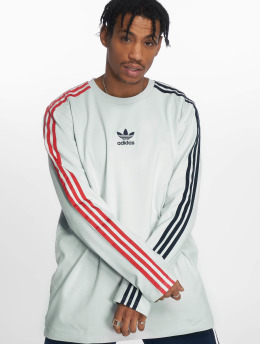 adidas originals Camiseta de manga larga Stripe gris