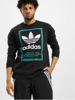 adidas Originals Camiseta de manga larga Tongue Label  negro