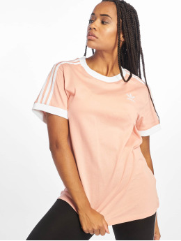 adidas originals Camiseta 3 Stripes fucsia
