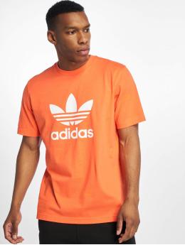 adidas originals Camiseta Trefoil naranja