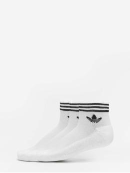 adidas Originals Chaussettes Trefoil Ankle 3 Pack blanc