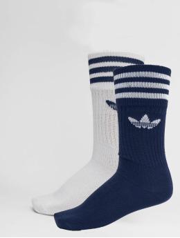 adidas originals Chaussettes Solid Crew 2pp bleu