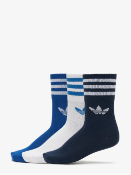 adidas Originals Chaussettes Originals Mid Cut Solid 3 Pack bleu