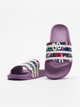 adidas originals Claquettes & Sandales Adilette pourpre