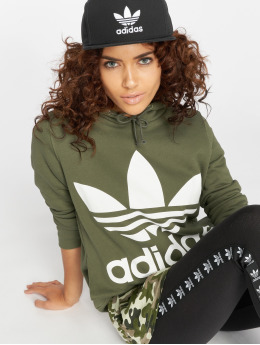 adidas originals Hoodies Trefoil zelený