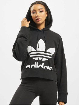 adidas Originals Frauen Hoody Cropped in schwarz