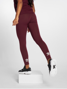 adidas originals Leggings/Treggings Trefoil czerwony