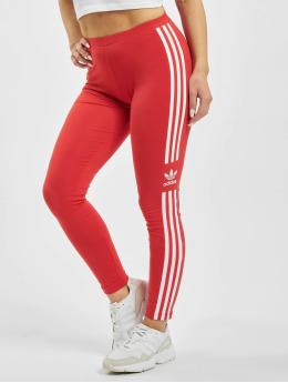 adidas Originals Leggings/Treggings Trefoil czerwony