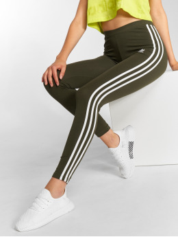 adidas originals Leggingsit/Treggingsit 3 Stripes Tight oliivi