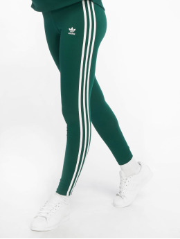 adidas originals Leggingsit/Treggingsit 3 Stripes vihreä