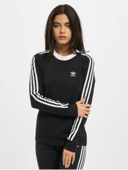 adidas Originals Longsleeve 3 Stripes schwarz