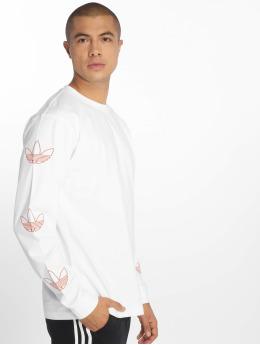 adidas originals Maglietta a manica lunga Trefoil bianco