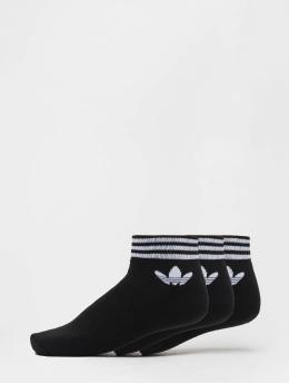 adidas originals Ponožky Trefoil Ank Str èierna