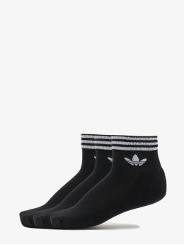 adidas Originals Ponožky Trefoil Ankle 3 Pack èierna
